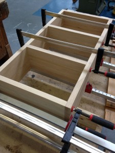 Oak shelving made with a Festool Domino cutter