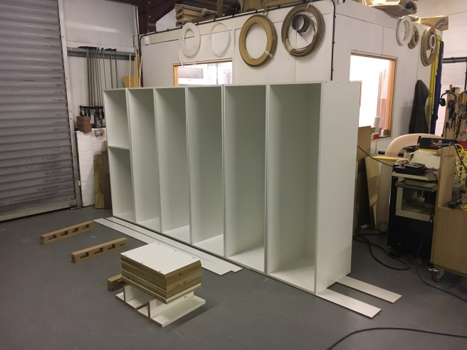 Work in progress picture of fitted wardrobe cabinets