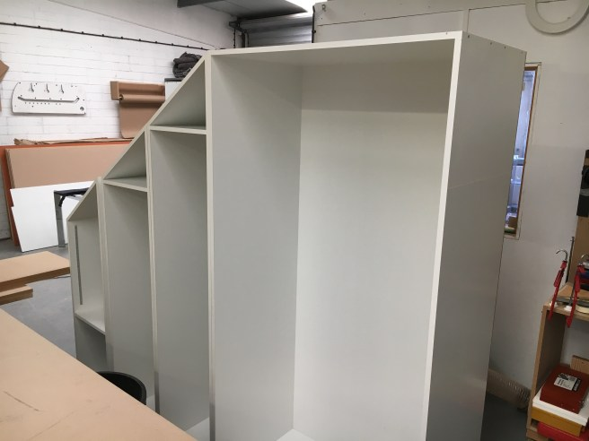 Wardrobes being built