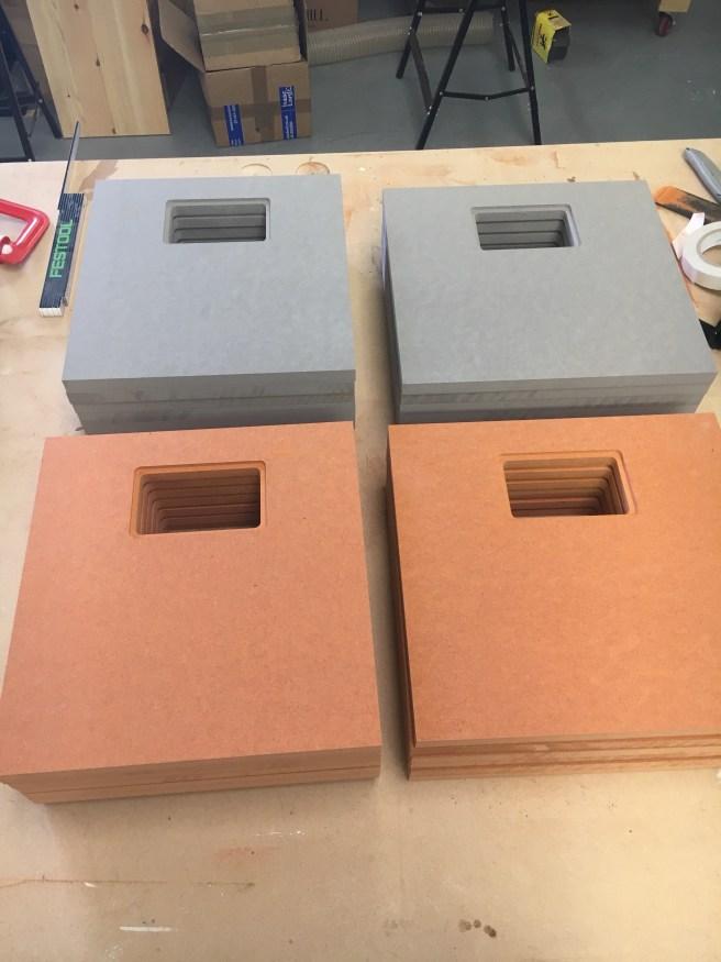 12 Inch record storage box components