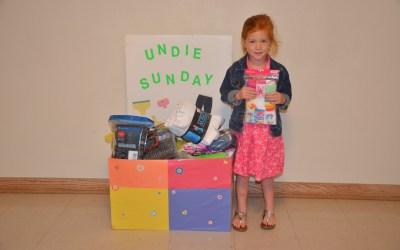 """Undie Sunday"" Mission a Success!"
