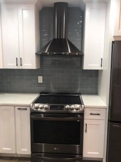 after kitchen-renovation - stove & hood
