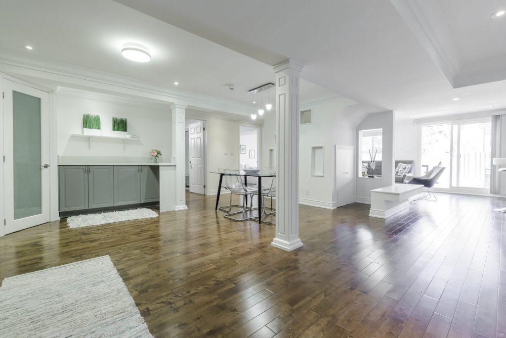 white basement