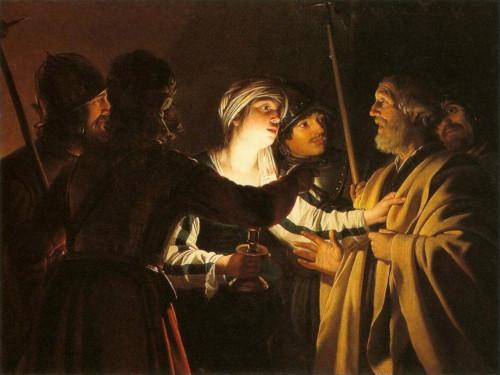 """""""Il diniego di San Pietro"""" di Gerrit van Honthorst"""
