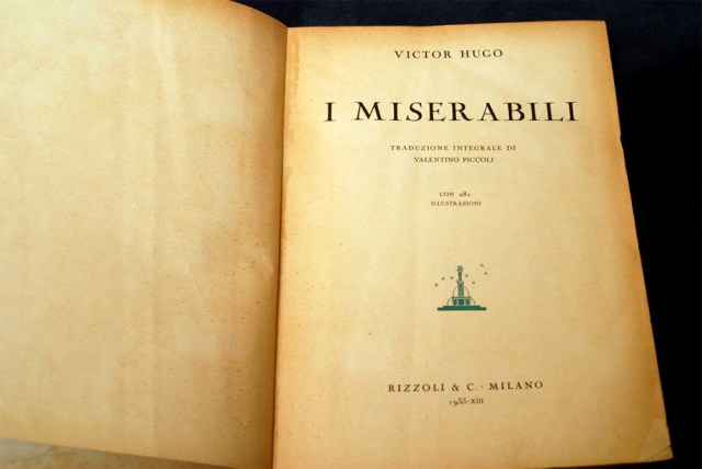 I miserabili - un romanzo di Victor Hugo (prima edizione italiana)