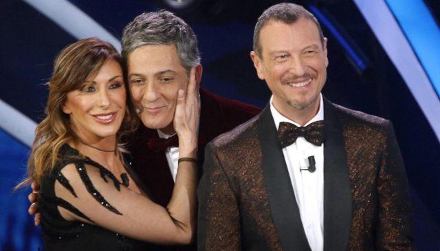 Sabrina Salerno, Fiorello, Amadeus a Sanremo 2020
