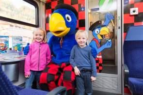 Globi-Express - Zentralbahn - Globi mit Kindern