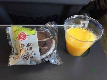 London 2016 mit Huawei - lecker glutunfreies Brownie in der Swiss