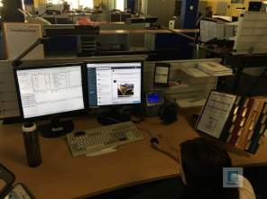 Einer der Social Media Arbeite-Plätze