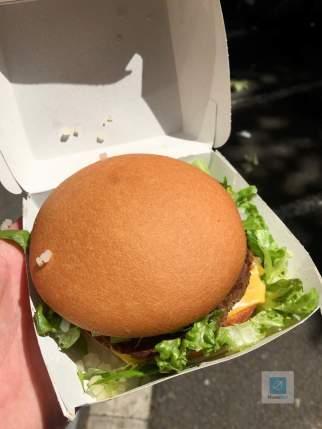 Der glutenfreie BigMac im Mc Donalds in Barcelona