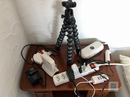 Welche Bettseite mir gehört, kann man sicherlich erahnen - ein Teil meiner Gadgets