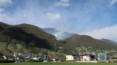 Waldbrände im Tessin