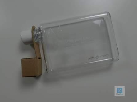 Die memo bottle mit dem Zusatzdeckel