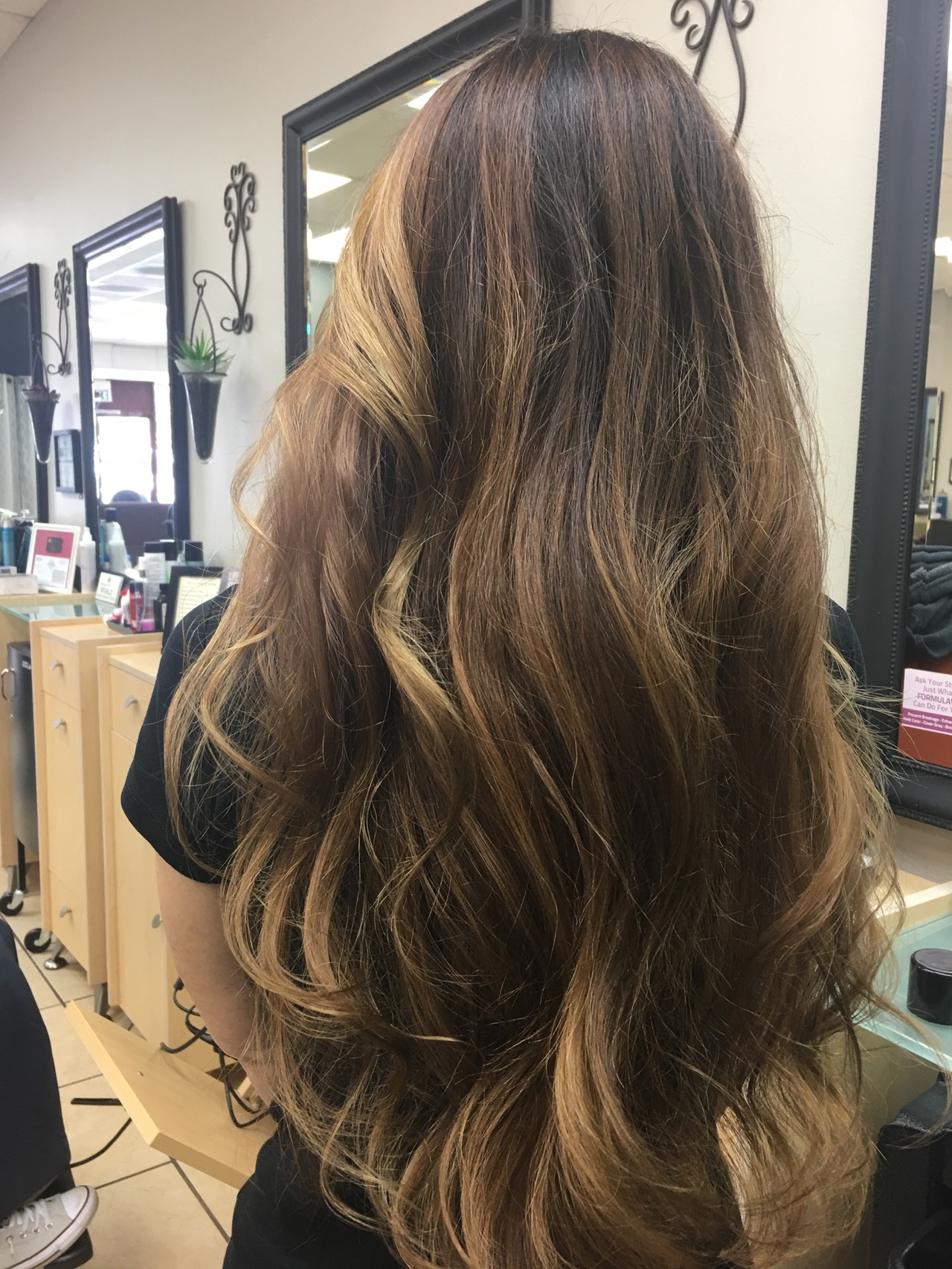 Balayage for brunettes hair