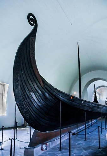 The Oseberg Ship prow.