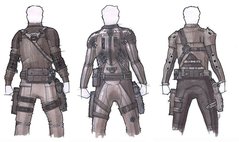 Costume designs for Ethan Hunts stealth suit for Mission Impossible Operation Surma.