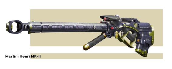 Rifle concept for a Victorian inspired future.