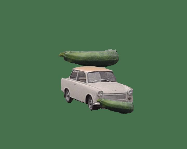 Der Gurkentrabi – oder erste Experimente mit Gimp