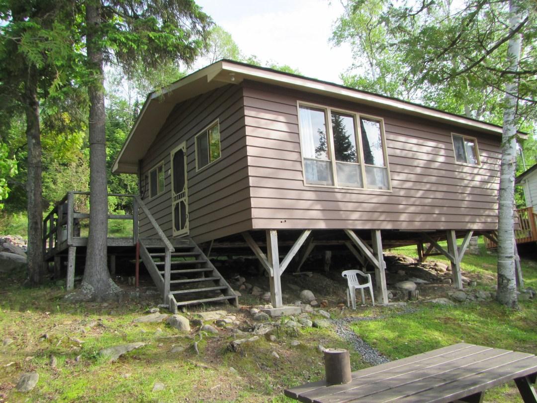 Brown Cottage Exterior