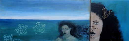 Blue Maori woman