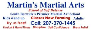 Welcome To Martin's Martial Arts.