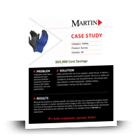 Ansell Safety Glove Survey Case Study with $60,000 Cost Savings - MartinSupply.com