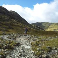 Kirk Fell Circuit from Seathwaite, via Green Gable, Great Gable, Sty Head and a pint at Wasdale Head