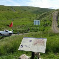 How to access the Coquet Valley and Cheviot Hills by car through the Otterburn military Ranges, via Dere Street