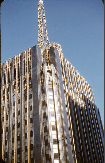 Richfield Tower, Flower at 6th Street, January 1958