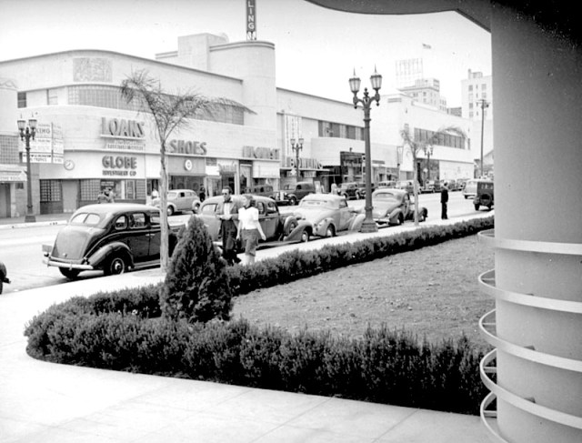 Looking North Up Vine St From NBC Studios Hollywood Circa 1939