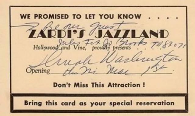 Zardi's Jazzland, 6315 Hollywood Blvd