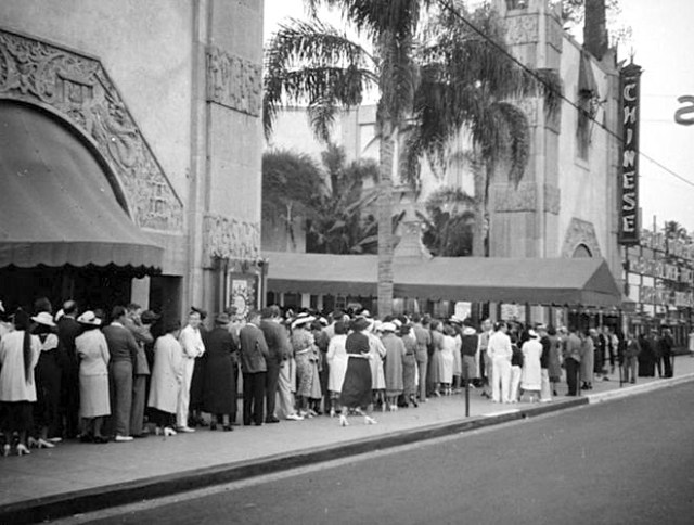 "Crowds line up for ""Captains Courageous"" Grauman's Chinese Theatre, Hollywood, July 17, 1937"