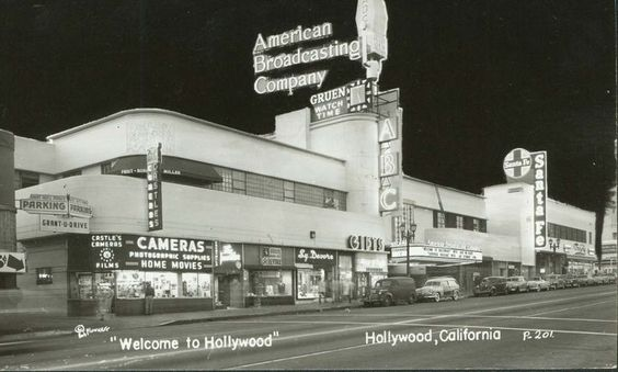 KCEA-ABC television studios on Vine St. in Hollywood, 1953