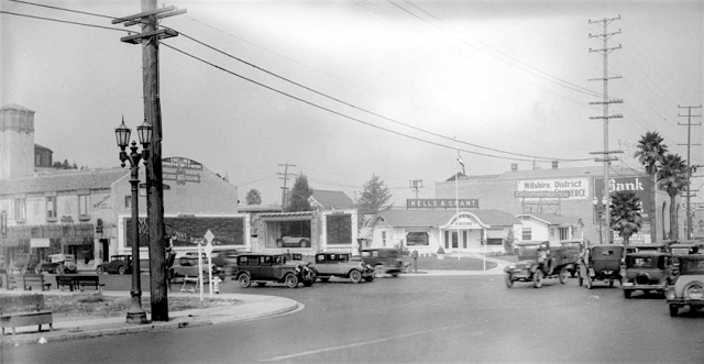Northwest corner of Wilshire Blvd and Western Ave, Los Angeles, 1927