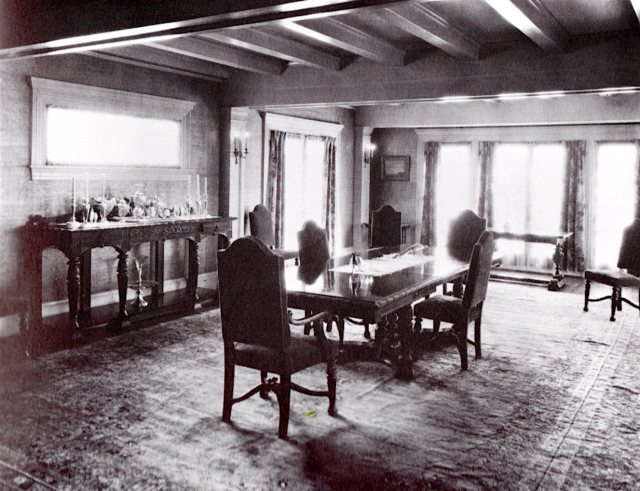 Pickfair dining room, circa early 1920s