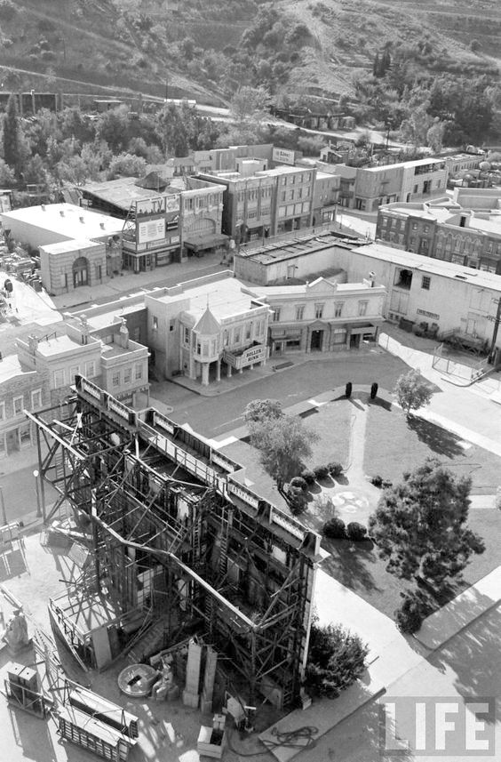 Courthouse Square on the Universal Studios back lot, Universal City, 1963
