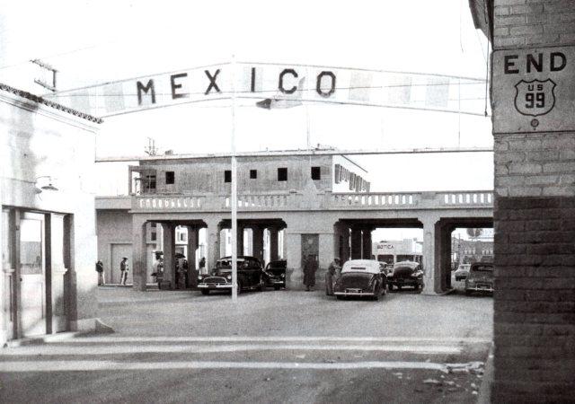 Heffernan Ave, Calexico, California / Mexican border crossing, circa 1933