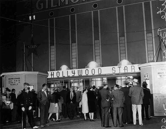 Hollywood Stars nighttime baseball game at Gilmore Field, Los Angeles