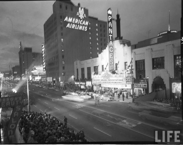The 30th Academy Awards at the Pantages Theater on Hollywood Blvd, March 26, 1958