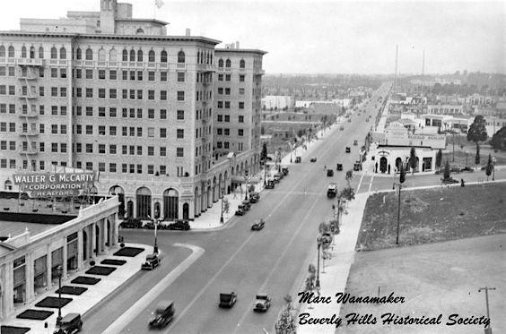 Beverly Wilshire Hotel on Wilshire Boulevard, Beverly Hills, 1929