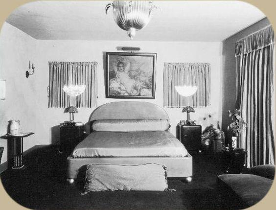 Rudolph Valentino's Bedroom at Falcon Lair, circa 1926