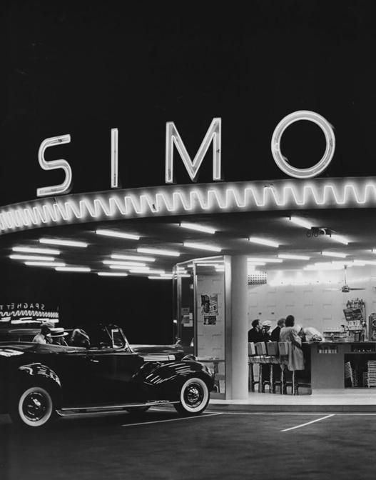 Simon's drive in restaurant, Los Angeles