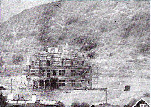 The Magic Castle in Hollywood, under construction in 1908