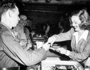 Bette Davis at the Hollywood Canteen