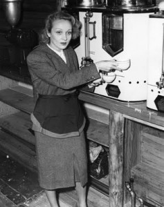 Marlene Dietrich at the Hollywood Canteen