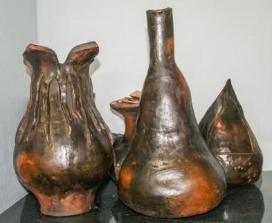 Sawdust fired pots