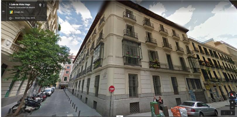 Edificio que fue Dirección General de Seguridad, en la calle Víctor Hugo 4 de Madrid.