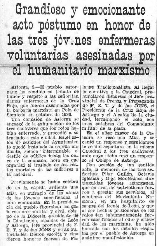Noticia en Gaceta de Tenerife, 6 de febrero de 1938, p. 1.