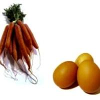 Ceaiul, morcovul și oul