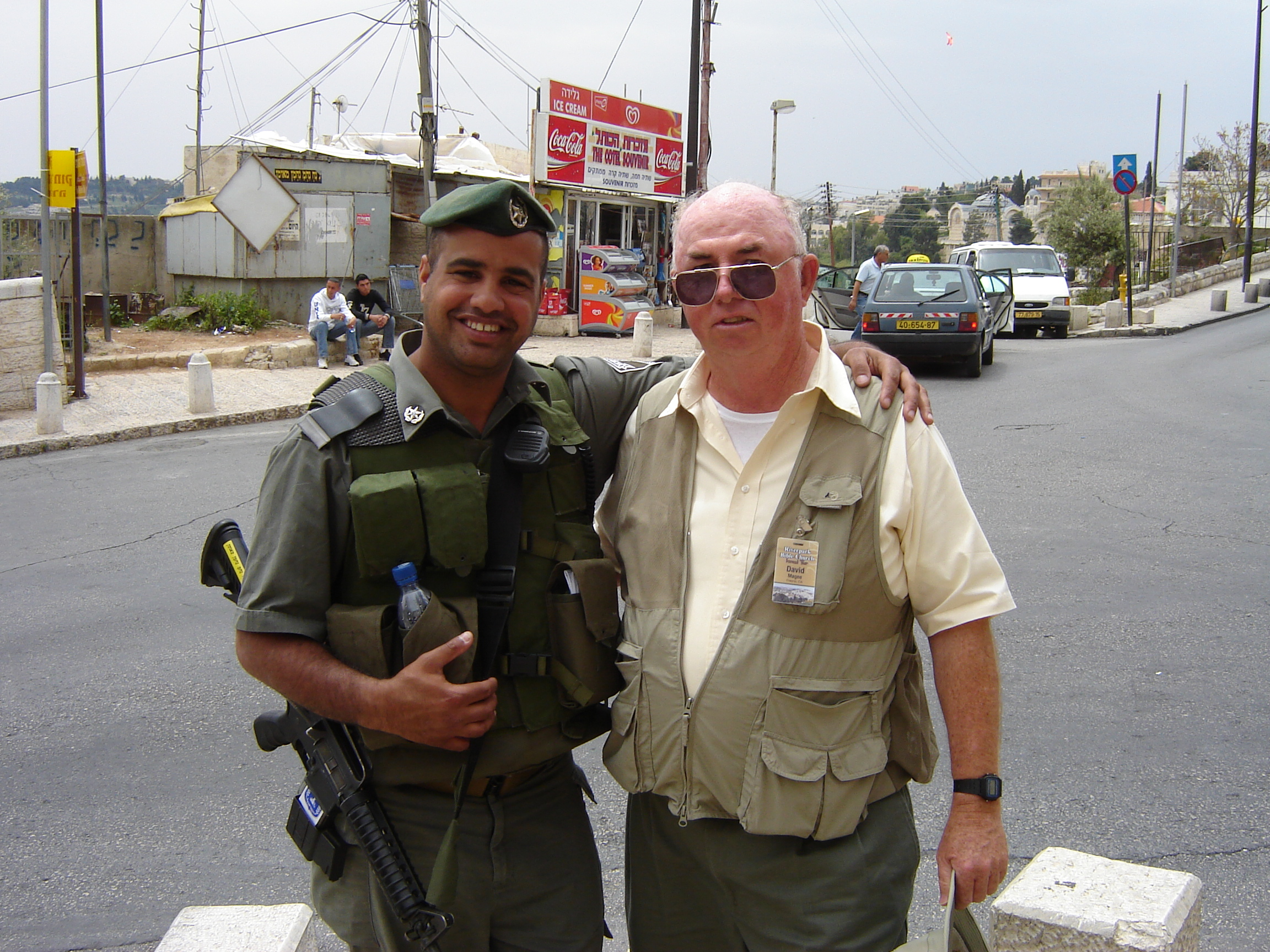 David with Israeli Soldier